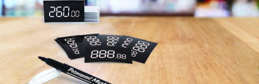 Наборы с бумажными ценниками и маркерами