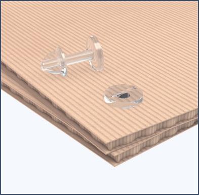 Пластиковый нажимной винт с гайкой CLICK-SCREW
